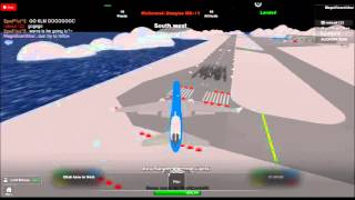 Landing to st.vic in roblox KLM with me