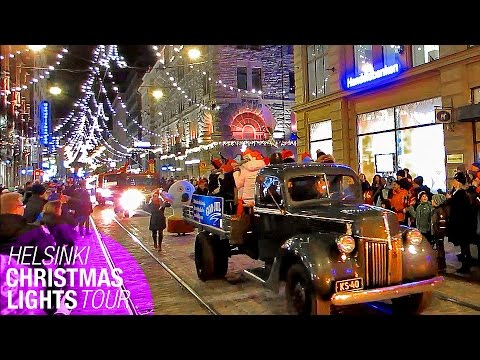 Helsinki Christmas Lights Tour: December 2014 - Finland