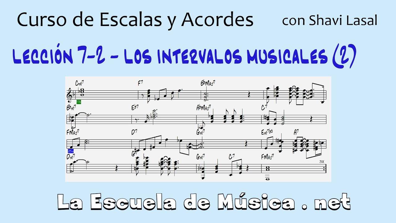 Intervalos musicales de la cuarta a la séptima - Lección 7-2 - YouTube