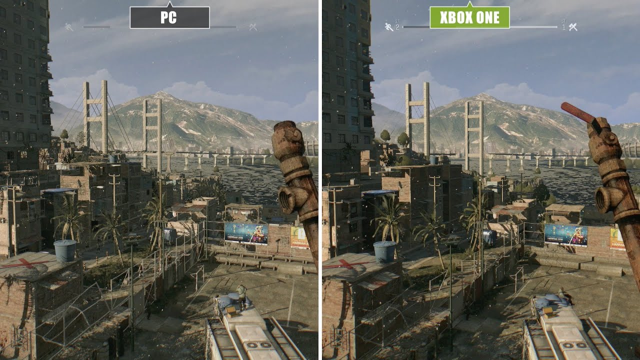 Dying Light PC vs  Xbox One vs  PS4 Graphics Comparison