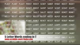 Letter Words Ending