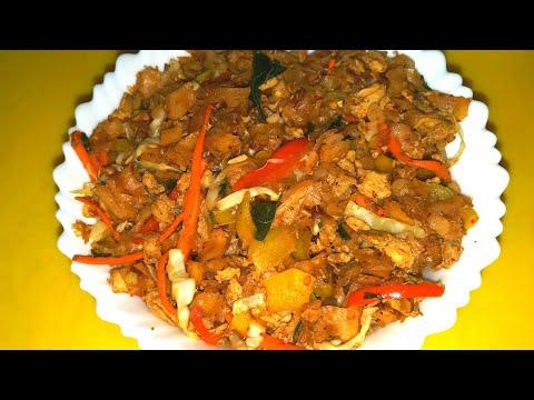 Sri lankan tamil dish 'kothu roti/paratha    TASTY SRI LANKA DISH made with parathas