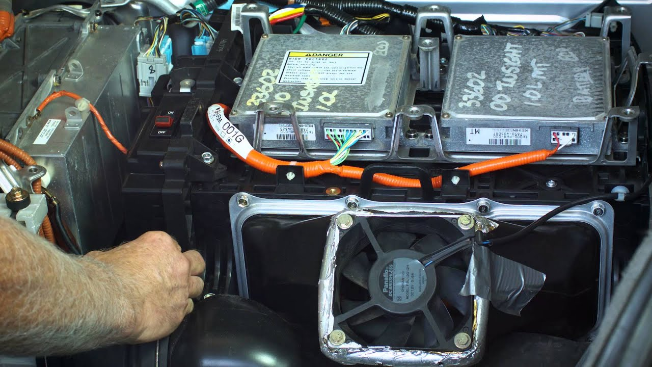 hight resolution of honda insight hybrid battery installation