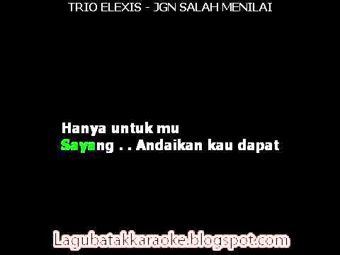 Trio Elexis   Jangan Salah Menilai  KARAOKE    YouTube