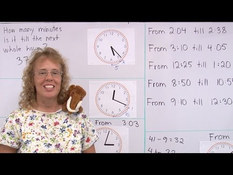 Find the elapsed time - to the minute - 3rd grade math lesson