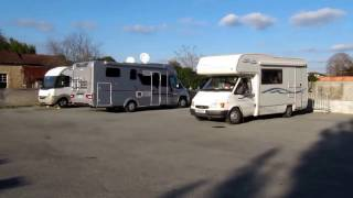 Motorhome aire in Cadillac, Gironde, France