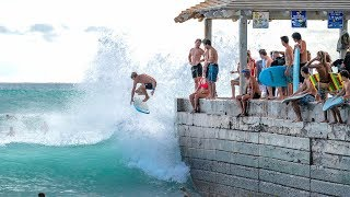 WALL SURFING IN WAIKIKI