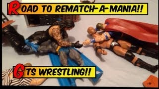 gts wrestling road to wrestlemania parody wwe mattel action figure matches stop motion animation