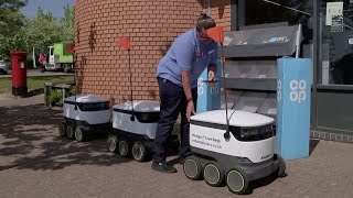 video: The tiny self-driving robots trying to win over locals in Milton Keynes