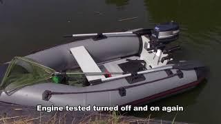 Trollen op snoek in een rubberbootje / Trolling for pike in a Inflatable Boat (Gopro)