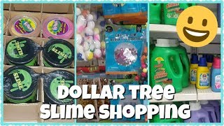 SLIME SUPPLIES SHOPPING AT DOLLAR TREE