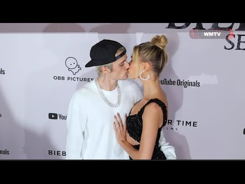 Justin Bieber, Hailey Baldwin Kissing At 'Justin Bieber: Seasons' Premiere