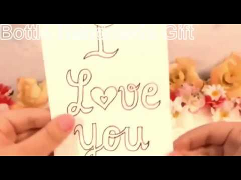 How To Make A Bottle Handmade Gift: I Love You| DIY: Message in a Bottle Gift|Tiny Message In Bottle