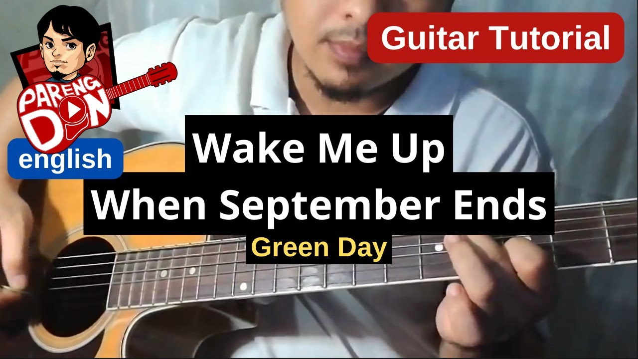 Guitar Tutorial Wake Me Up When September Ends Greenday Easy