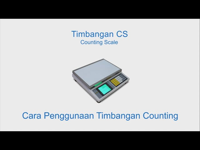 Cara Penggunaan Timbangan Digital Counting