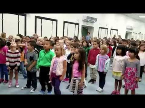 La Fetra elementary school and Sampa jiu jitsu health living assembly.