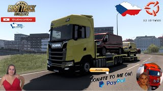 Euro Truck Simulator 2 (1.40 Beta)  Small Tribute to new Members Contact me  vanelli.isabella@gmail.com   Projekt ?esko v0.4 A better Czechia by ItzHonzula Scania S Next Gen With FVG Tandem Agraliner Trailer Animated gates in companies v3.8 [Schumi] Real Company Logo v1.3 [Schumi] Company addon v1.9 [Schumi] Trailers and Cargo Pack by Jazzycat Motorcycle Traffic Pack by Jazzycat FMOD ON and Open Windows Naturalux Graphics and Weather Spring Graphics/Weather v3.7 (1.39) by Grimes Test Gameplay ITA Europe Reskin v1.0 + DLC's & Mods https://forum.scssoft.com/viewtopic.php?f=32&t=294002  For Donation and Support my Channel https://paypal.me/isabellavanelli?loc...?...  SCS Software News Iberian Peninsula Spain and Portugal Map DLC Planner...2020 https://www.youtube.com/watch?v=NtKeP...?... Euro Truck Simulator 2 Iveco S-Way 2020 https://www.youtube.com/watch?v=980Xd...?... Euro Truck Simulator 2 MAN TGX 2020 v0.5 by HBB Store https://www.youtube.com/watch?v=HTd79...?...  All my mods I use in the video Promods map v2.51 https://www.promods.net/setup.php?gam...? Traffic mods by Jazzycat https://ets2.lt/en/ai-traffic-pack-by...? https://ets2.lt/en/painted-truck-traf...? https://ets2.lt/en/painted-bdf-traffi...? https://ets2.lt/en/bus-traffic-pack-b...? Graphics mods https://grimesmods.wordpress.com/? Europe Reskin https://forum.scssoft.com/viewtopic.p...? Trailers pack https://ets2.lt/en/trailers-and-cargo...? https://tzexpress.cz/?????????? Others mods Company addon v1.9 [Schumi] https://forum.scssoft.com/viewtopic.p...? Real Company Logo v1.3 [Schumi] https://forum.scssoft.com/viewtopic.p...? Animated gates in companies v3.8 [Schumi https://forum.scssoft.com/viewtopic.p...?  #TruckAtHome?????????? #covid19italia?????????? Euro Truck Simulator 2    Road to the Black Sea (DLC)    Beyond the Baltic Sea (DLC)   Vive la France (DLC)    Scandinavia (DLC)    Bella Italia (DLC)   Special Transport (DLC)   Cargo Bundle (DLC)   Vive la France (DLC)    Bella Italia (DLC)    Baltic S