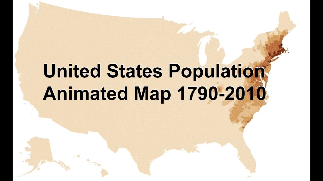 Animated Map Of Population Density In The Us 1790 2010 Youtube - Us-map-by-population-density