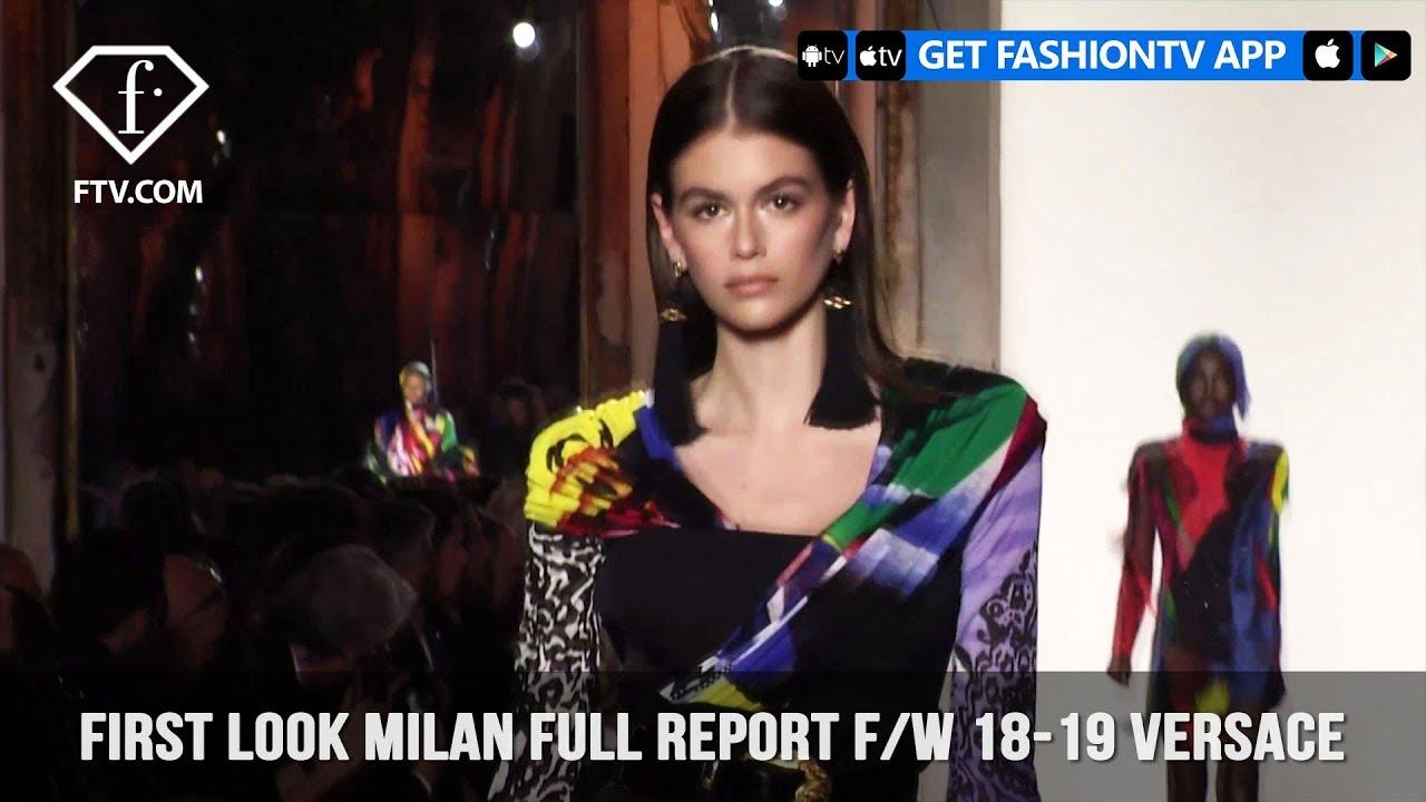 Gigi Hadid Versace Milan Fashion Week Fall Winter 2018-19 ... 7ec449da029