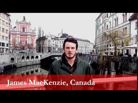 James MacKenzie, student from Canada at the University of Ljubljana