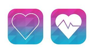 Illustrator Tutorial: Fitness / Health App Icon