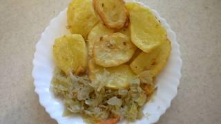Картошка в духовке с луком и чесноком