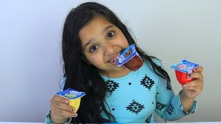 تجربة دانيت مع شفا !!! color pudding Shfa Mukbang