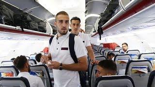 Η πτήση του Ολυμπιακού για το Μπέρνλι! / Olympiacos's flight to Burnley!