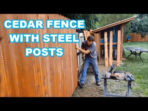 BEST WAY TO BUILD A CEDAR FENCE? (Wood with steel posts/brackets)
