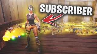 tester mon SUBSCRIBER... 😞 (Scammer Gets Scammed) dans Fortnite Save The World