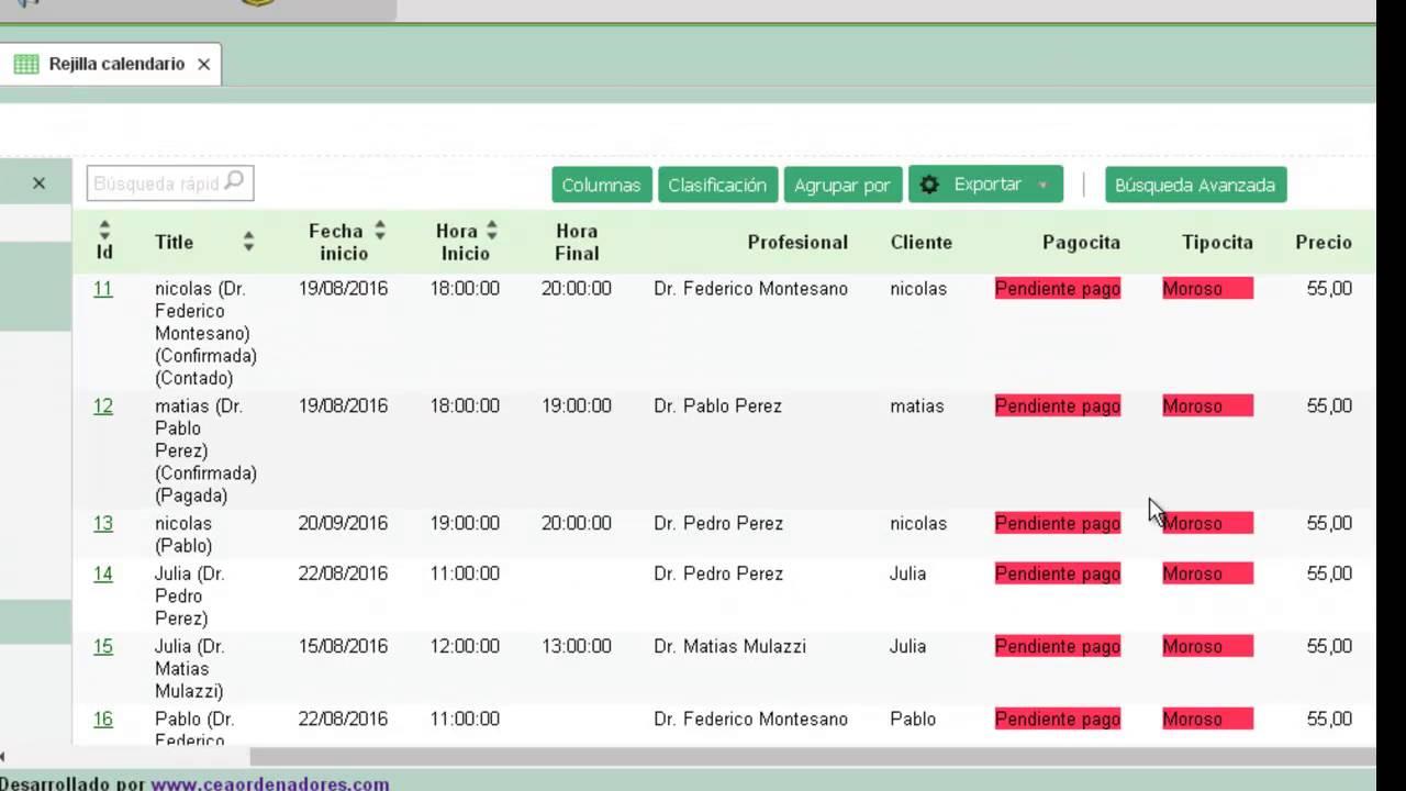 Software de programación de citas en línea en cualquier dispositivo
