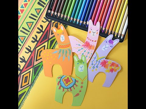 How to handicraft and color cute, little paper alpacas with STABILO CarbOthello