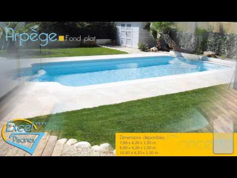 Présentation Excel piscines fabricant français coque polyester piscine 1012