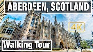 City Walks - Aberdeen Scotland Walking Tour 02 - Virtual walk and Walking Treadmill Video