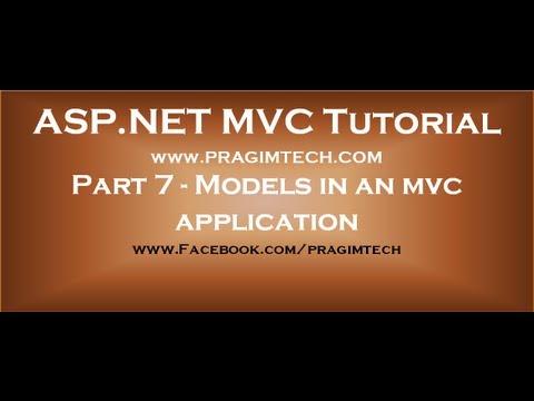 Part 7  Models in an mvc application