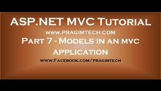 Part 7  Models in an mvc application