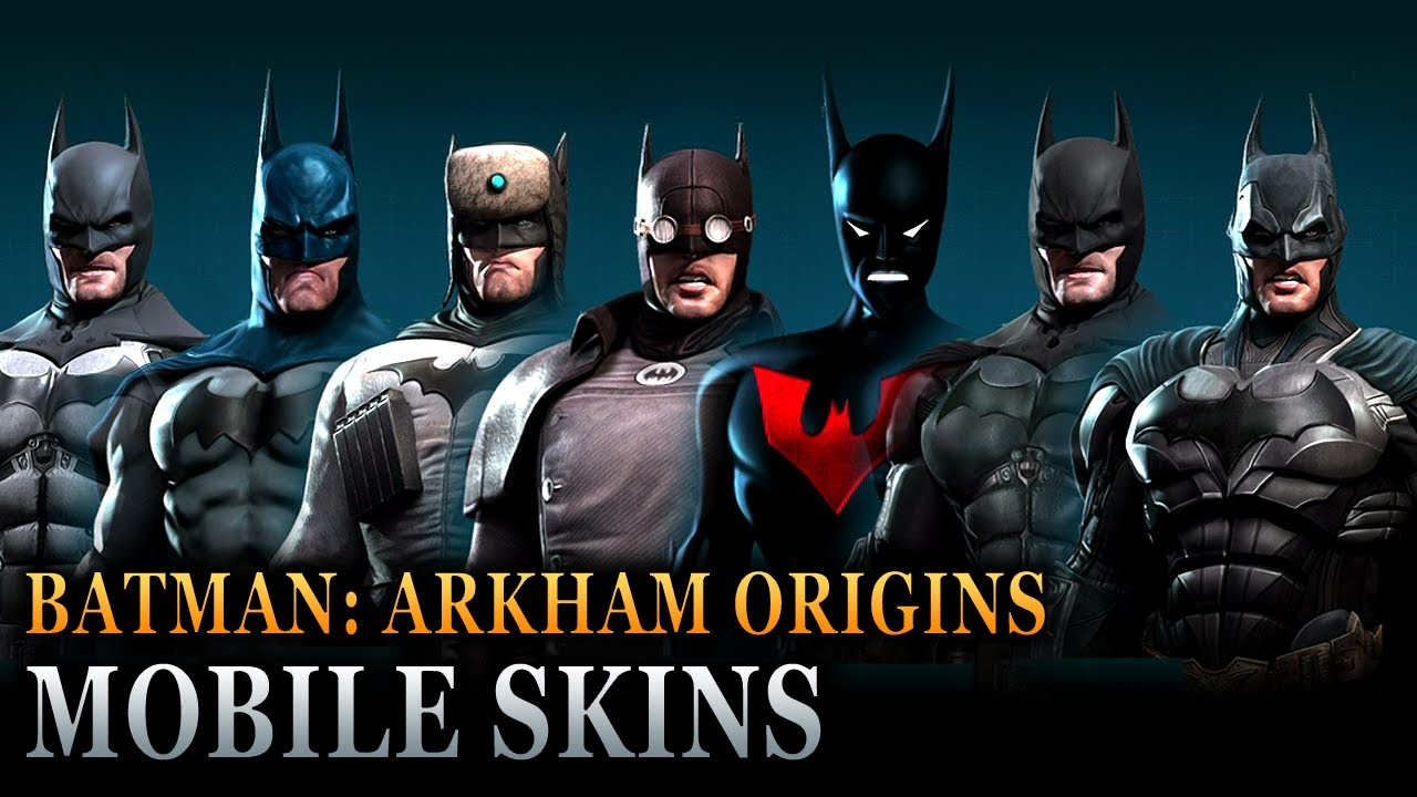 & Batman: Arkham Origins Mobile - Batsuit Skins - YouTube