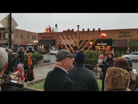 Chabad of Prescott Menorah lighting at the Courthouse