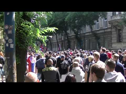 Protest v Bratislave proti imigrantom 2015. Protest against immigrants in Slovakia.