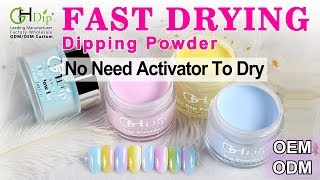 Candy Color Ombre Dip Nails by Fast Drying Dip Powder
