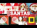 5 Paper Santa Crafts - DIY Santa Decor and Ideas for Christmas