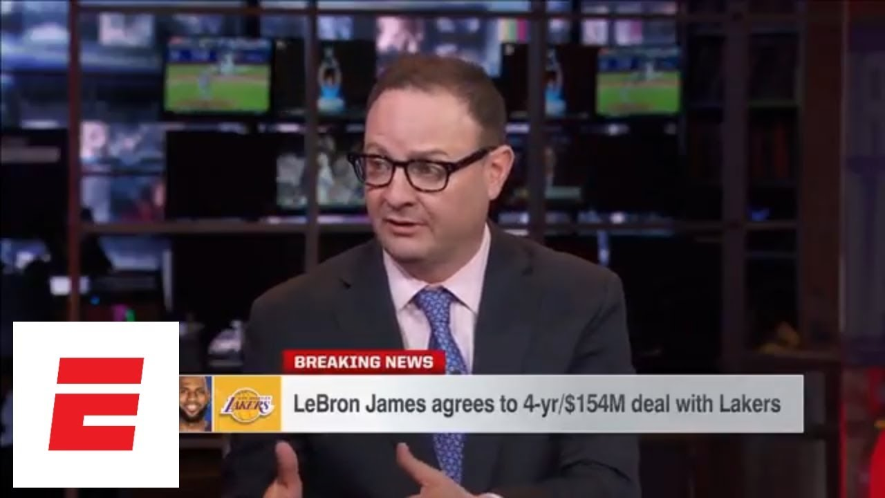 106be28fc9e4 LeBron James agrees to join Los Angeles Lakers on 4-year contract ...