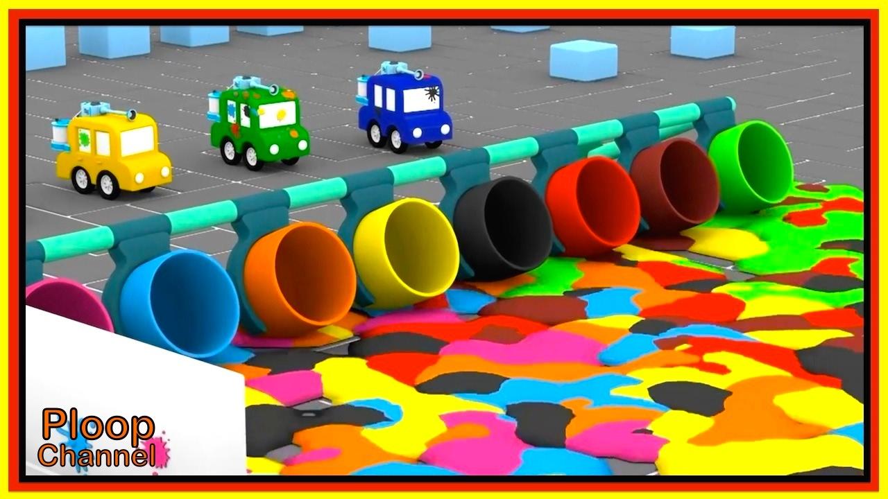 paintball park cartoon cars cartoons for children videos for