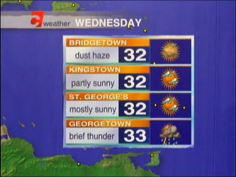 Caribbean Travel Weather - Wednesday October 11th, 2017