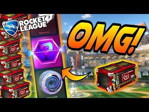 Rocket League CRATE OPENING: NEW TRIUMPH CRATES! (Search for Dissolver, Samurai, & Atomizer)