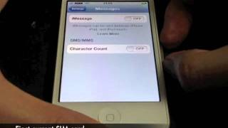How to Enable iMessage on KDDI JP