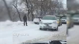 Массовое ДТП на Запсибе в Новокузнецке