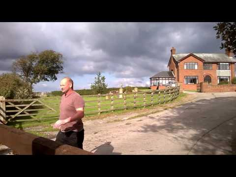 Anti Fracking Demo Lancashire 8/10/16- Angry Farmer Confronted