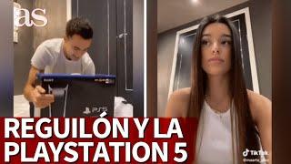 Reguilón recibe la PlayStation 5 y la reacción de Marta Díaz se hace viral... | Diario AS