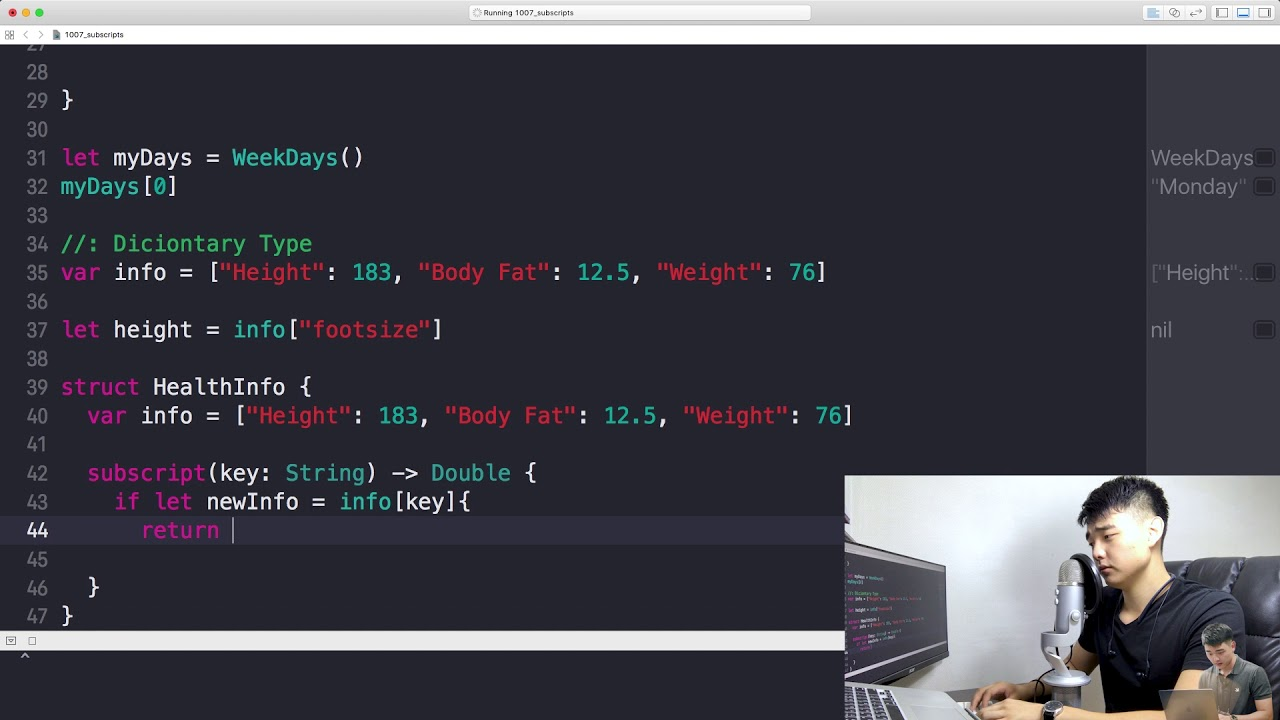 Lesson 7: Subscripts · Learn Swift 4 with Bob: The